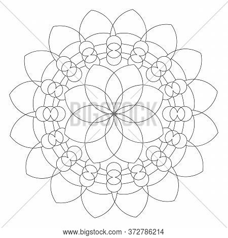 The Mandala Pattern. Petal Mandala With The Flower Of Life In The Middle