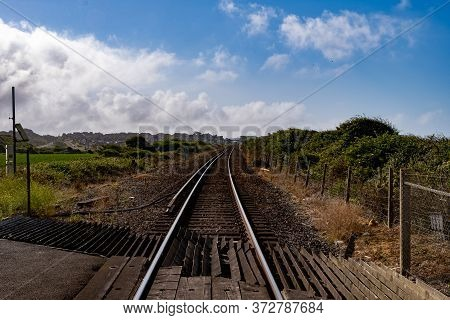 A View Along The Railway Track Towards Seaford, Sussex