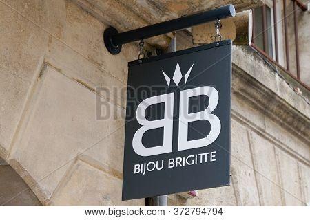 Bordeaux , Aquitaine / France - 06 14 2020 : Bijou Brigitte Logo Sign Store On Street Shop Building
