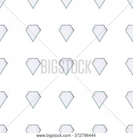 Diamond Gem Shape Facet Seamless Pattern. Luxury Jewels Geometric Precious Objects. For Cover, Banne