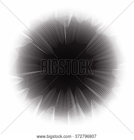 Abstract Background With Geometric Texture. Optical Illusion Of Distortion Of Space.
