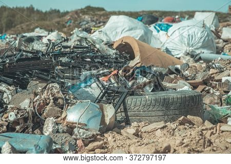 Landfill Of Municipal Waste In Nature, Environmental Protection, Ecology