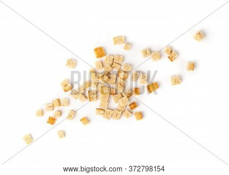 Homemade Bread Croutons, Crispy Bread Cubes, Dry Rye Crumbs