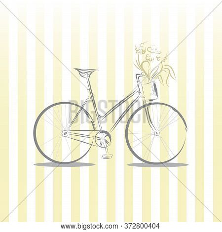 Image Of Retro Bicycle Vector Graphics. Stock Illustration.