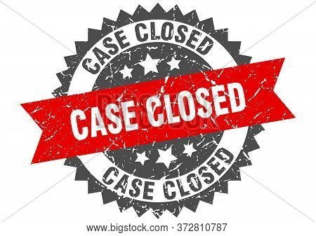 Case Closed Grunge Stamp With Red Band. Case Closed