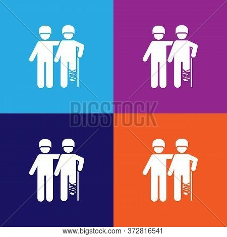 Soldiers, Mans, Military, Wounded Pictogram Icon. Signs And Symbols Can Be Used For Web, Logo, Mobil