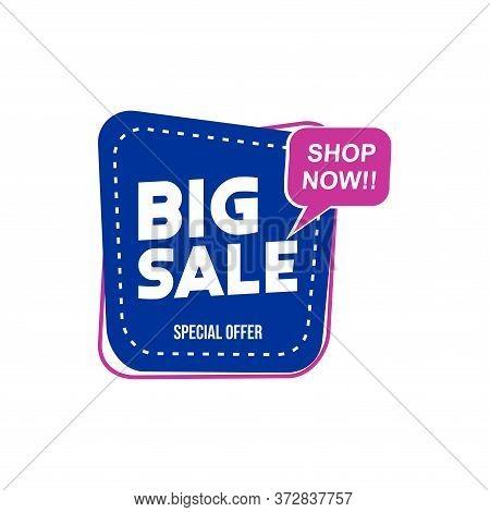 Big Sale Tag Vector Badge Template, Big Sale Label Collection, Clearance Sale Sticker Emblem, Bargai