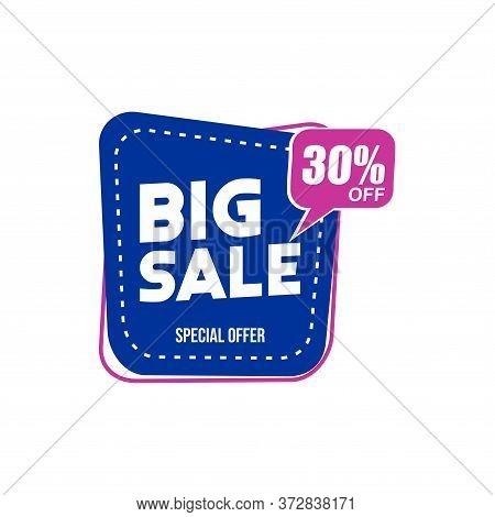 30% Big Sale Tag Vector Badge Template, 30% Big Sale Label Collection, Clearance Sale Sticker Emblem