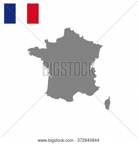 French Map Vector Isolated On White Background. Italian Map. French Map Vector. French Country World