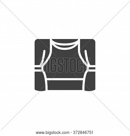 Theater Curtains Vector Icon. Filled Flat Sign For Mobile Concept And Web Design. Theater Stage With