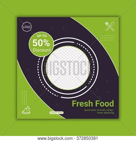 Social Media Banner For Food And Drink Business.special Food Social Media Banner Template For Restau