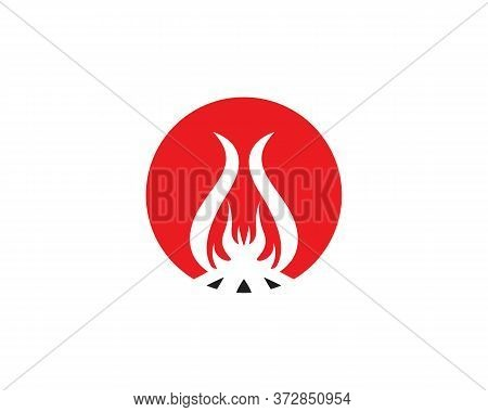 Bonfire Logo Design Vector Template Illustration