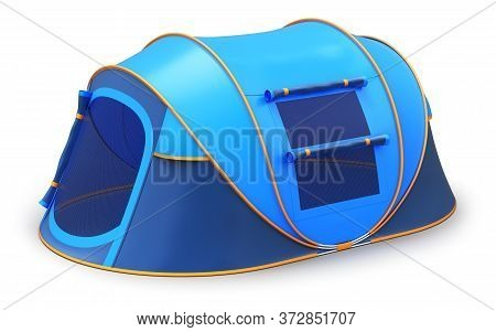Tourist Camping Tent On White Background - 3d Illustration