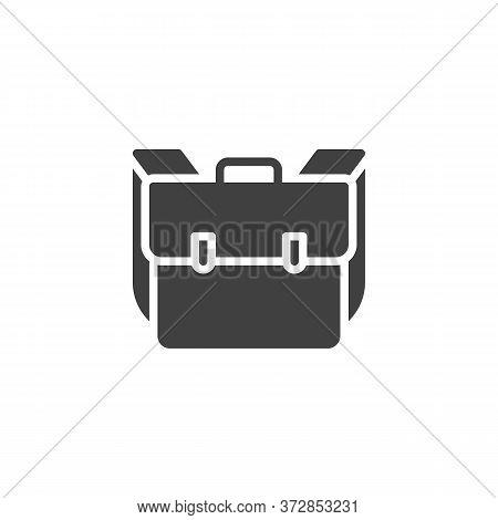 School Bag, Knapsack Vector Icon. Filled Flat Sign For Mobile Concept And Web Design. Backpack, Ruck