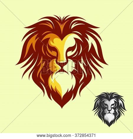 Luxury Design Lion Head Vector Symbol. Collection Of Colorful Lion Head. Vector Illustration Eps.8 E