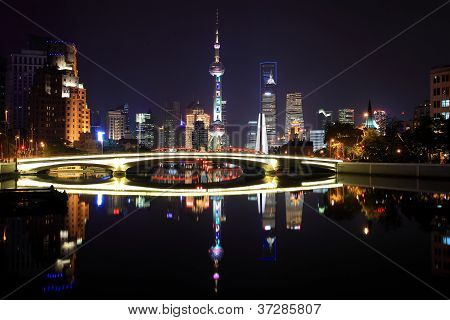 Shanghai skyline at New attractions landscape