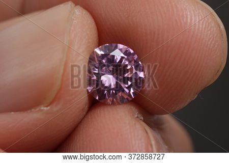 Close up shot of beautiful brilliant crystal zirconia diamond beads for jewelry