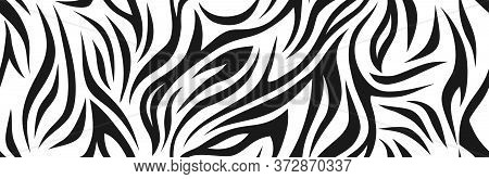 Zebra Pattern, Stylish Stripes Texture. Animal Natural Print. For The Design Of Wallpaper, Textile,