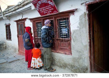 Bus station in Jomson, Nepal