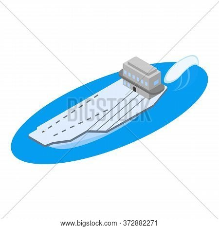 Military Warship Icon. Isometric Illustration Of Military Warship Vector Icon For Web