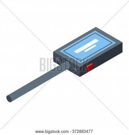 Metal Detector Icon. Isometric Of Metal Detector Vector Icon For Web Design Isolated On White Backgr
