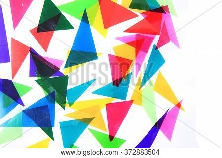 Abstract Color Triangles Texture