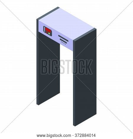 Modern Metal Detector Gate Icon. Isometric Of Modern Metal Detector Gate Vector Icon For Web Design