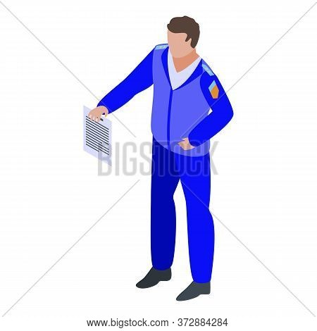 Tax Inspector Uniform Icon. Isometric Of Tax Inspector Uniform Vector Icon For Web Design Isolated O