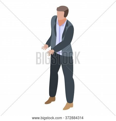 Man Calculate Tax Icon. Isometric Of Man Calculate Tax Vector Icon For Web Design Isolated On White