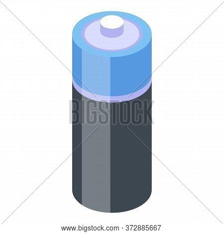 Nanotechnology Battery Icon. Isometric Of Nanotechnology Battery Vector Icon For Web Design Isolated