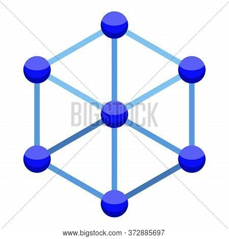 Nanotechnology Cube Icon. Isometric Of Nanotechnology Cube Vector Icon For Web Design Isolated On Wh