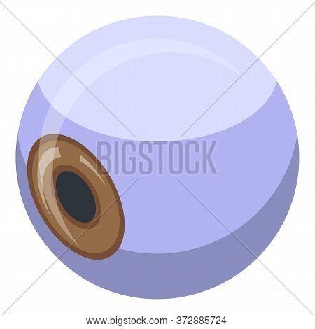 Nanotechnology Medical Eyeball Icon. Isometric Of Nanotechnology Medical Eyeball Vector Icon For Web