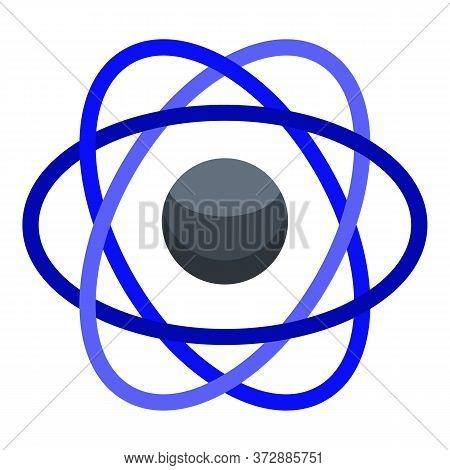 Nanotechnology Atom Icon. Isometric Of Nanotechnology Atom Vector Icon For Web Design Isolated On Wh