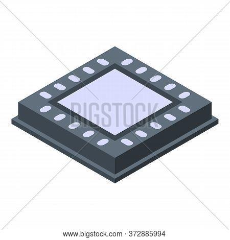 Nanotechnology Processor Icon. Isometric Of Nanotechnology Processor Vector Icon For Web Design Isol