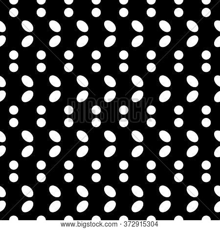 Seamless Pattern. Circles, Ovals Ornament. Dots, Figures Motif. Rounds Background. Digital Paper, Te