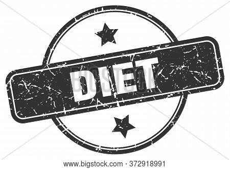 Diet Grunge Stamp. Diet Round Vintage Stamp