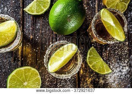 Golden Tequila Shots