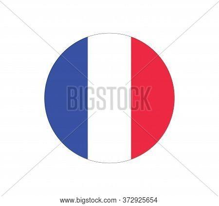 France Flag Vector Icon. Flag Of France. World Cup Soccer Game . Souvenir Soccer Game, Button Langua