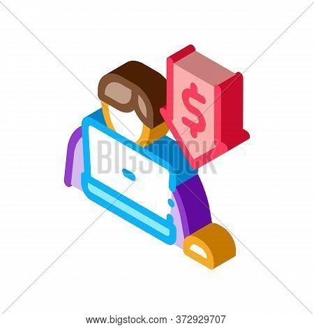 Low Working Capacity Icon Vector. Isometric Low Working Capacity Sign. Color Isolated Symbol Illustr