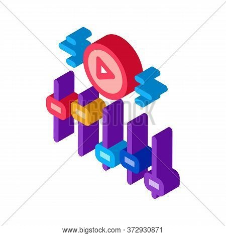Movie Maker Settings Icon Vector. Isometric Movie Maker Settings Sign. Color Isolated Symbol Illustr