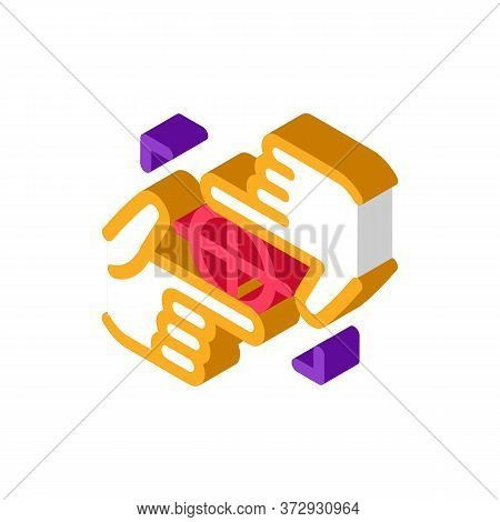 Target Focusing Icon Vector. Isometric Target Focusing Sign. Color Isolated Symbol Illustration
