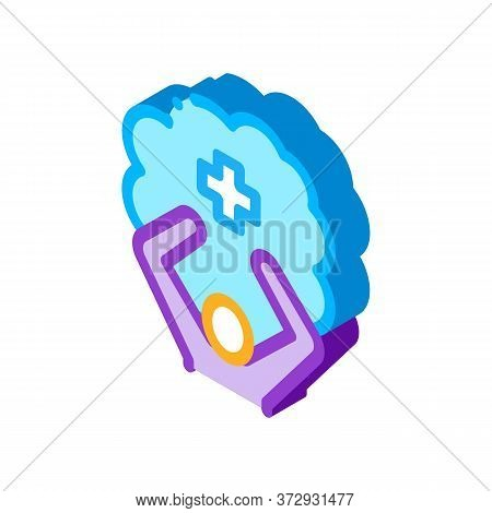 Mentally Healthy Person Icon Vector. Isometric Mentally Healthy Person Sign. Color Isolated Symbol I