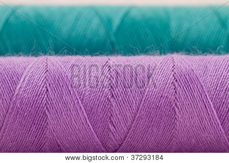 Violet And Green Thread