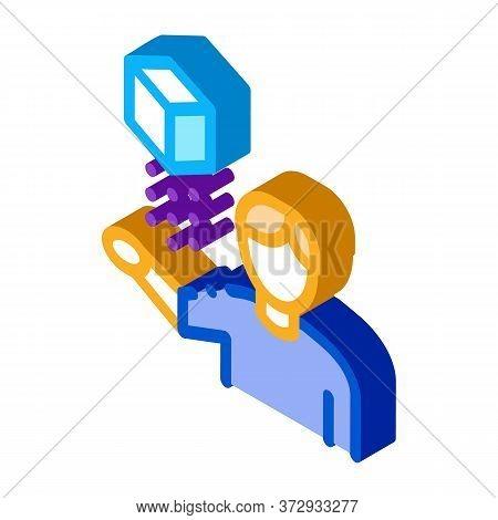 Virtual Reality Representative Icon Vector. Isometric Virtual Reality Representative Sign. Color Iso