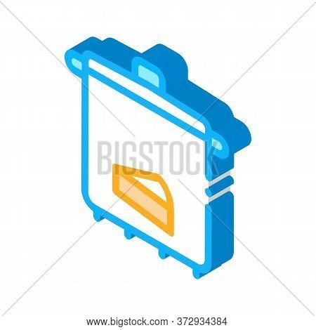 Cheese Soup Pan Icon Vector. Isometric Cheese Soup Pan Sign. Color Isolated Symbol Illustration