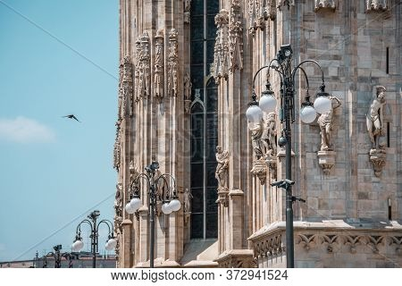 Facade Of A Gothic Cathedral. Sights Of Italy.