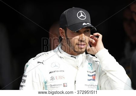 Monza, Italy. 8th September 2019. Formula 1 Grand Prix Of Italy. Lewis Hamilton Of Mercedes Amg Petr