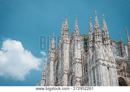 Milan Cathedral Is The Cathedral Church Of Milan In Lombardy, Northern Italy. Landmark