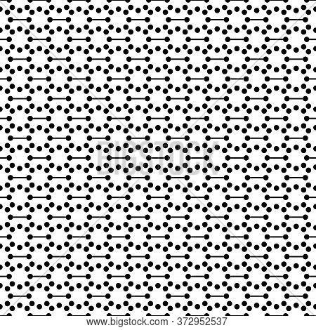Circles, Figures Seamless Pattern. Dots Print. Circular Shapes Ornament. Polka Dot Wallpaper. Rounds