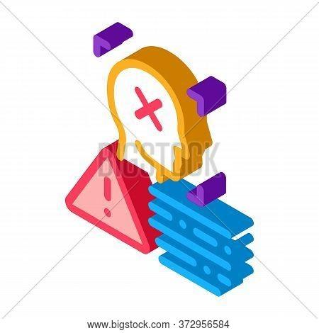 Deepfake Human Profile Icon Vector. Isometric Deepfake Human Profile Sign. Color Isolated Symbol Ill